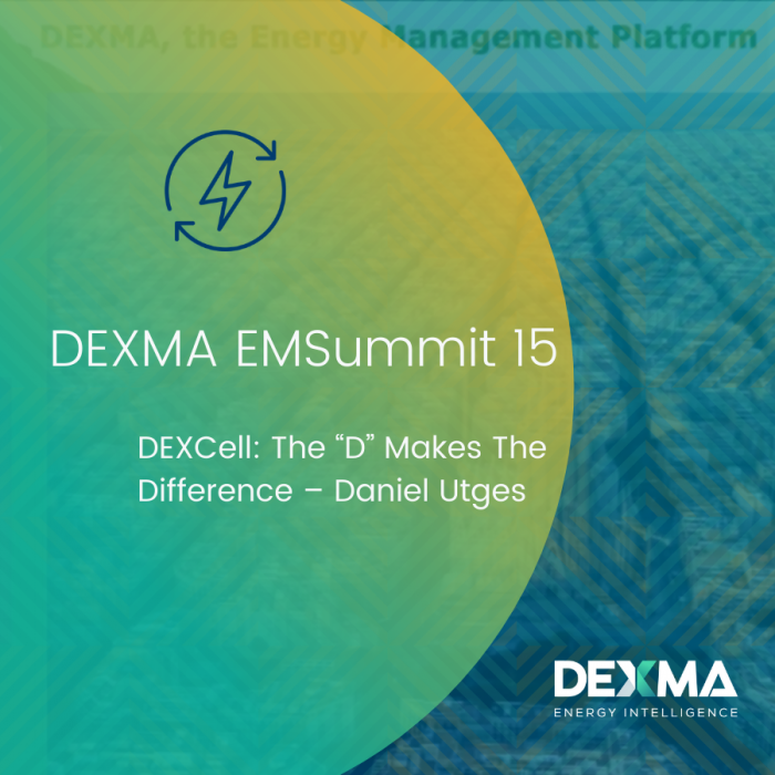 "DEXMA EMSummit 15 | DEXCell: The ""D"" Makes the Difference – Daniel Utges"