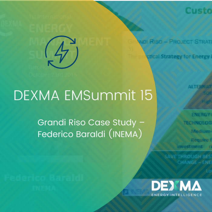 DEXMA EMSummit 15 | Grandi Riso Case Study – Federico Baraldi (INEMA)