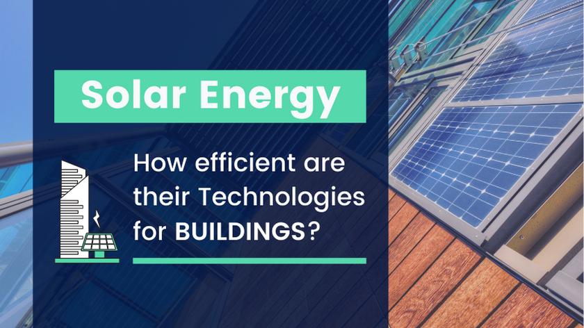 Solar energy technologies for buildings