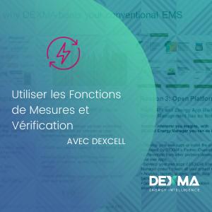 Comment utiliser les fonctions de Mesure et Vérification de DEXCell