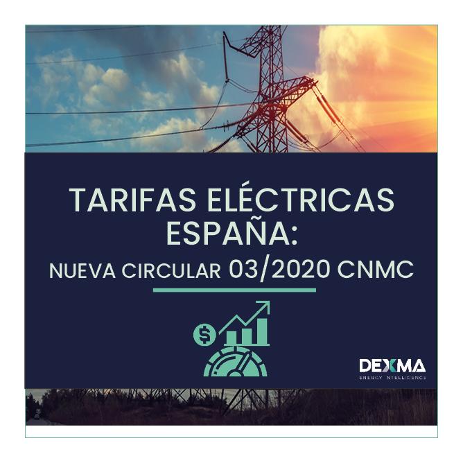 Tarifas Eléctricas España 03/2020 CNMC