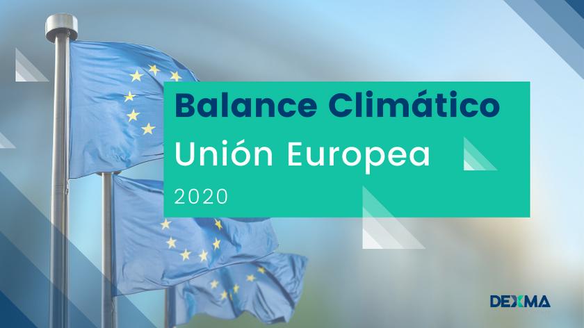Consumo Energía Europa - Balance climático 2020