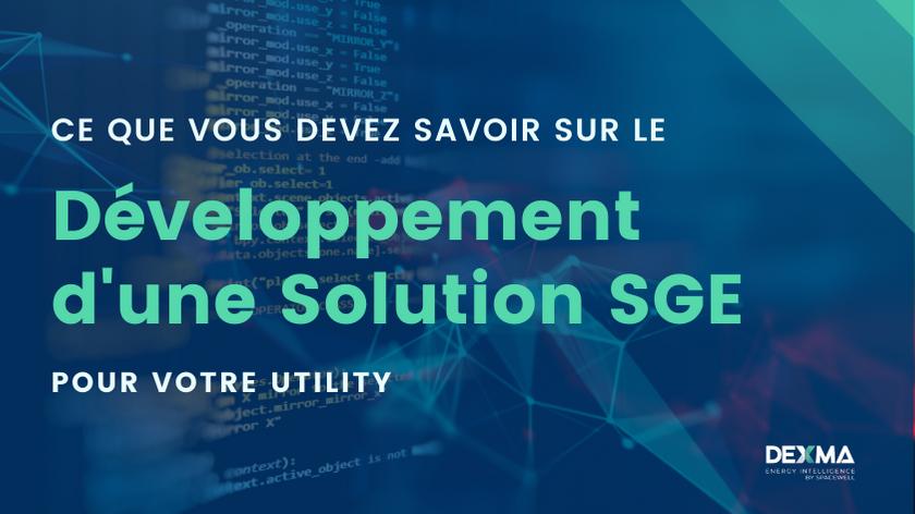 Développement d'une Solution SGE pur votre utility