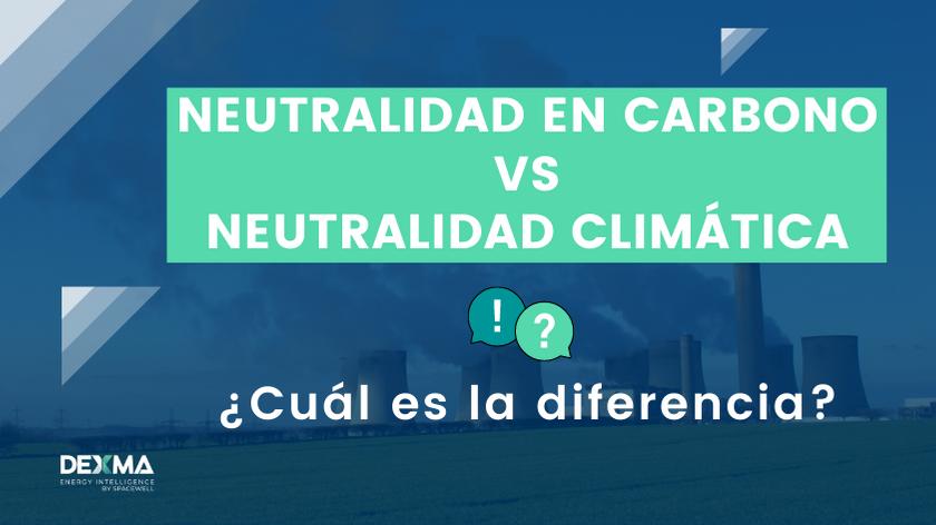 Diferencia entre neutralidad en carbono y neutralidad climática