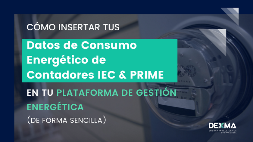 Insertar Datos energía de Contadores IEC & PRIME en Software de Gestión Energética